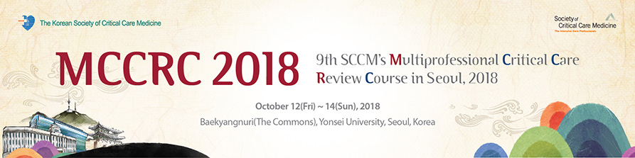 9th SCCM's Multiprofessional Critical Care Review Course in